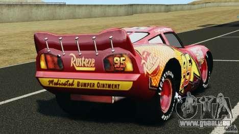 Lightning McQueen pour GTA 4 Vue arrière de la gauche