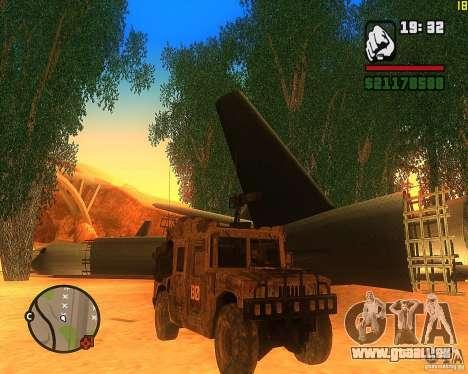 Hummer H1 de COD MW 2 pour GTA San Andreas laissé vue