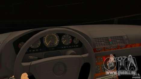Mercedes-Benz 500SE pour GTA San Andreas sur la vue arrière gauche