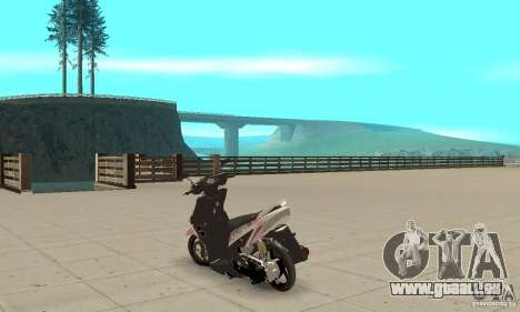 Honda Vario-Velg Racing pour GTA San Andreas sur la vue arrière gauche