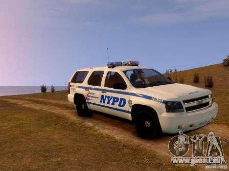 Chevrolet Tahoe New York Police für GTA 4 hinten links Ansicht
