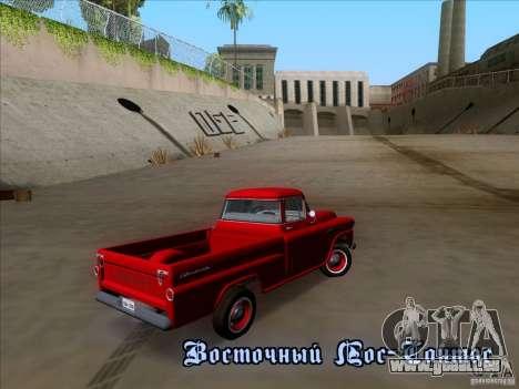 Chevrolet Apache GM 1959 pour GTA San Andreas vue arrière