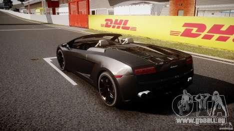 Lamborghini Gallardo LP560-4 Spyder 2009 pour GTA 4 Vue arrière de la gauche