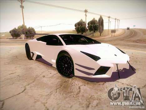 Lamborghini Reventon GT-R pour GTA San Andreas vue de droite
