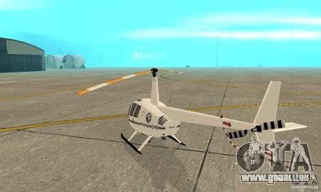 Robinson R44 Raven II NC 1.0 blanc pour GTA San Andreas vue de droite