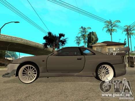 Nissan Skyline R 34 Need For Speed Carbon für GTA San Andreas zurück linke Ansicht