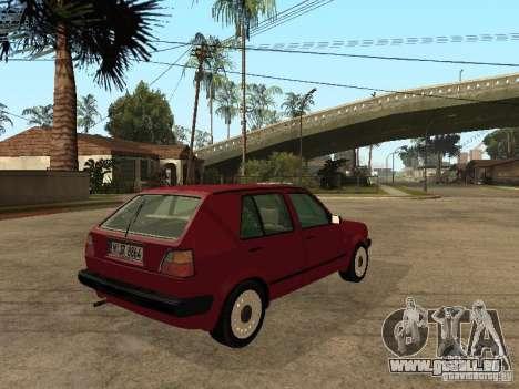 Volkswagen Golf MKII 5dr für GTA San Andreas zurück linke Ansicht