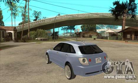 Toyota Alteza Wagon pour GTA San Andreas sur la vue arrière gauche