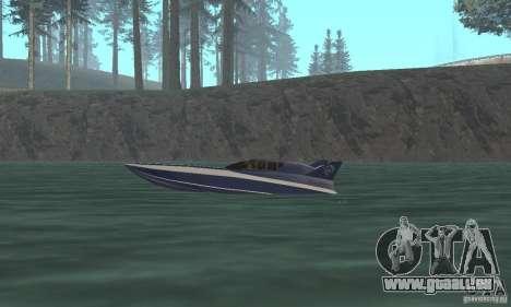 Powerboat pour GTA San Andreas sur la vue arrière gauche