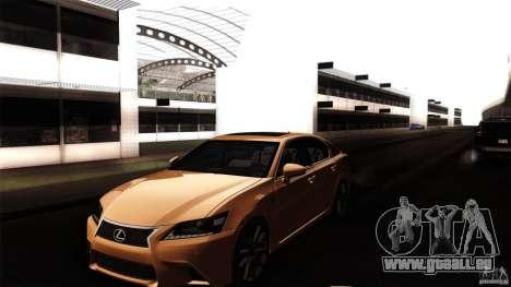 Lexus GS350F Sport 2013 für GTA San Andreas Seitenansicht