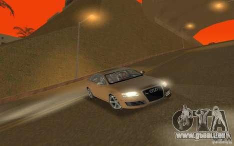 Audi RS6 TT Black Revel pour GTA San Andreas vue arrière