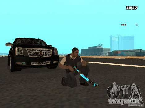 Black & Blue guns für GTA San Andreas