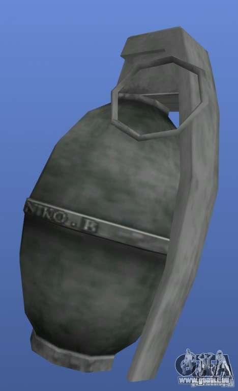 Grenade N.B pour GTA 4 troisième écran