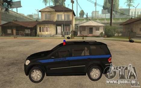 Mercedes-Benz GL500 Polizei für GTA San Andreas linke Ansicht