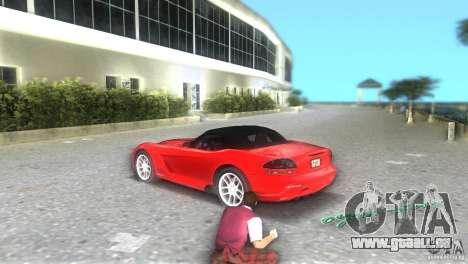 Dodge Viper SRT 10 Coupe für GTA Vice City zurück linke Ansicht