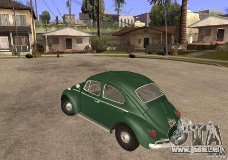 Volkswagen Beetle 1963 pour GTA San Andreas laissé vue