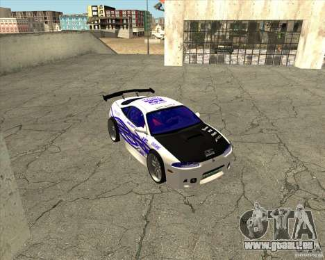 Mitsubishi Eclipse street tuning pour GTA San Andreas vue intérieure