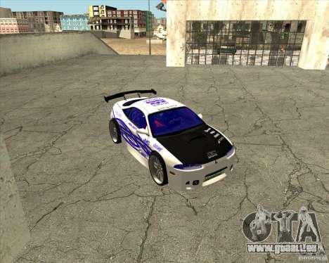 Mitsubishi Eclipse street tuning für GTA San Andreas Innenansicht