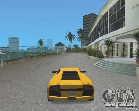 2005 Lamborghini Murcielago pour GTA Vice City sur la vue arrière gauche