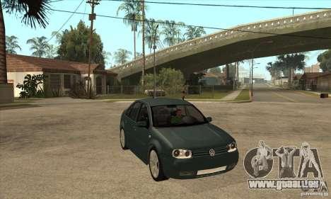 Volkswagen Bora-Golf für GTA San Andreas Rückansicht