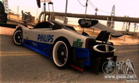 Pagani Zonda R pour GTA San Andreas salon