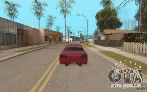Digital speedometer and tachometer für GTA San Andreas dritten Screenshot