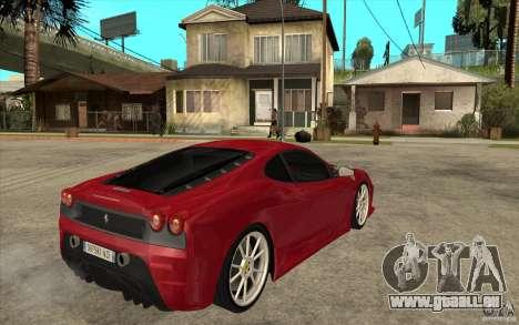 Ferrari F430 Scuderia pour GTA San Andreas vue de droite