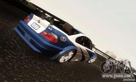 BMW M3 GTR pour GTA San Andreas vue intérieure