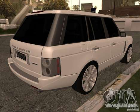 Land Rover Range Rover Supercharged pour GTA San Andreas sur la vue arrière gauche