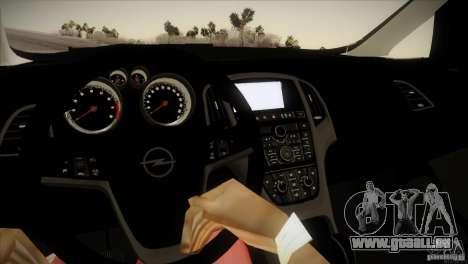 Opel Astra 2010 für GTA San Andreas Innenansicht