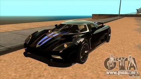 Koenigsegg Agera 2010 pour GTA San Andreas