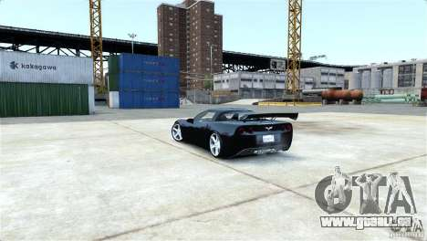 Chevrolet Corvette C6 Convertible v1.0 für GTA 4 obere Ansicht