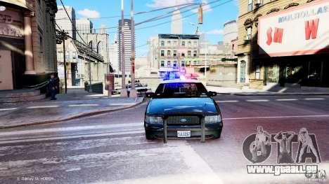 CVPI LCPD San Diego Police Department für GTA 4 Rückansicht