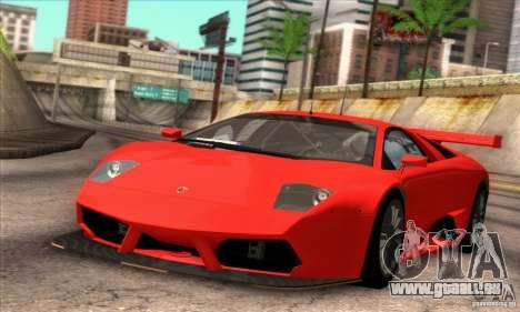 Lamborghini Murcielago R-SV GT1 für GTA San Andreas Innenansicht
