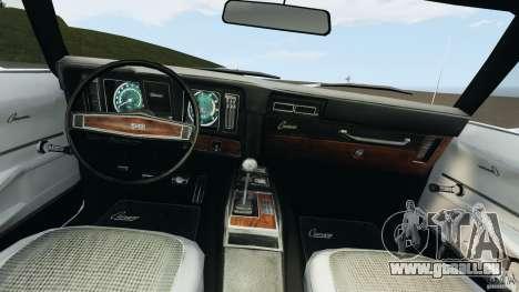 Chevrolet Camaro SS 350 1969 pour GTA 4 Vue arrière