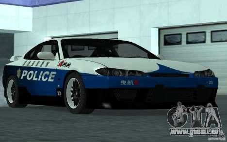 Nissan Silvia S15 Police pour GTA San Andreas vue de droite