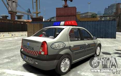 Dacia Logan Prestige Politie für GTA 4 rechte Ansicht