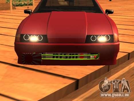 JDM Elegy pour GTA San Andreas sur la vue arrière gauche