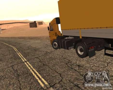 KamAZ 5460 Truckers 2 pour GTA San Andreas sur la vue arrière gauche