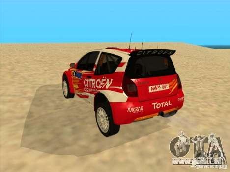 Citroen Rally Car pour GTA San Andreas vue de droite