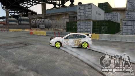 Subaru Impreza WRX STI Rallycross DC Gold Vinyl pour GTA 4