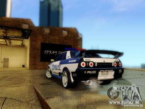 Nissan Skyline R32 Police pour GTA San Andreas laissé vue
