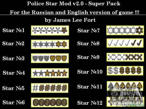 Neue Sterne für die Kapuze # 2 für GTA San Andreas