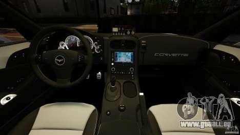 Chevrolet Corvette ZR1 Police pour GTA 4 Vue arrière