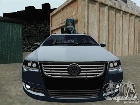 Volkswagen Passat B6 Variant Stance 2007 pour GTA San Andreas laissé vue