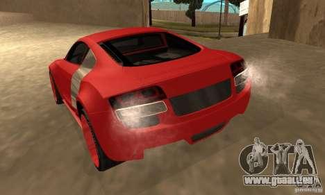 Audi R8 Custom für GTA San Andreas linke Ansicht