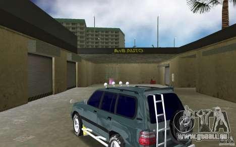 Toyota Land Cruiser 100 pour GTA Vice City sur la vue arrière gauche