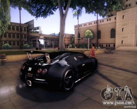 Bugatti Veyron Super Sport pour GTA San Andreas vue arrière
