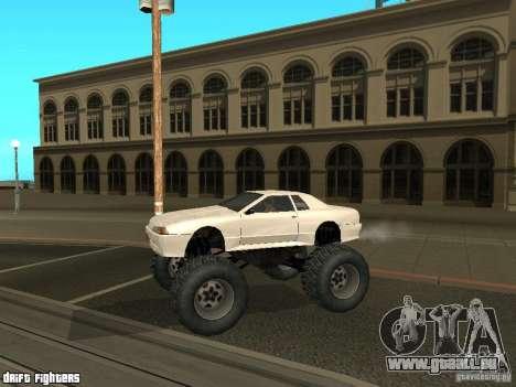 Elegy Monster pour GTA San Andreas sur la vue arrière gauche