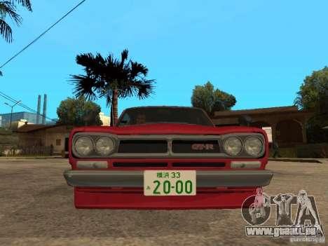 Nissan Skyline 2000 GT-R pour GTA San Andreas vue de droite
